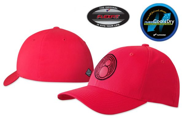 Gorra de golf color rojo modelo fade