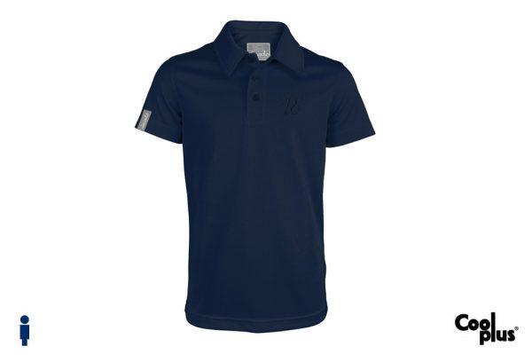 Polo de golf de niño modelo driver color azul marino